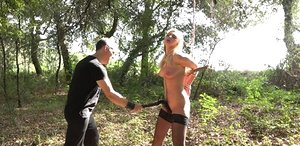 Ash-blonde pain slut endures all the pain her captor can inflict upon her