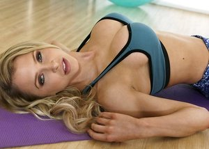 Cute mom Alix Lynx and Elsa Jean are getting pounded after a adorable workout